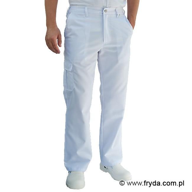 404f3552 Spodnie medyczne męskie - kolor biały