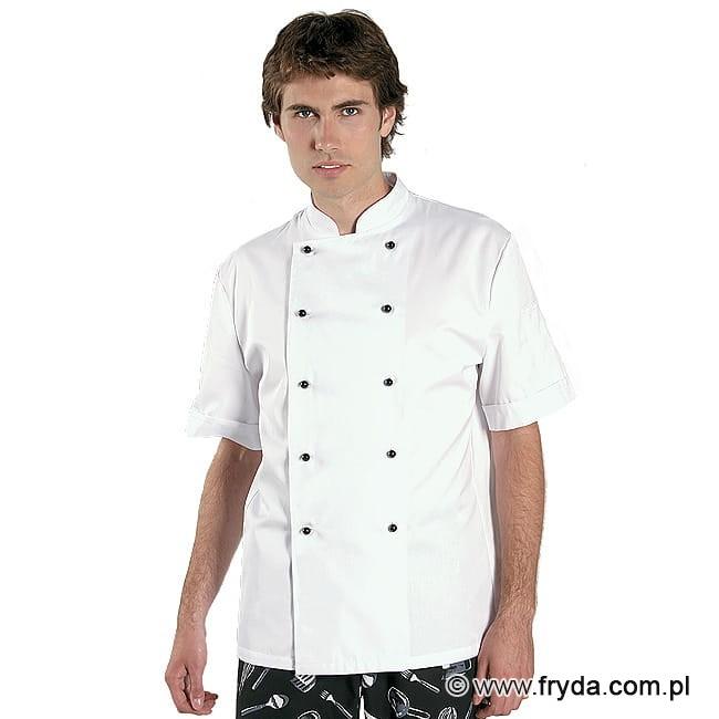 Bluza kucharska krótki rękaw kolor biały