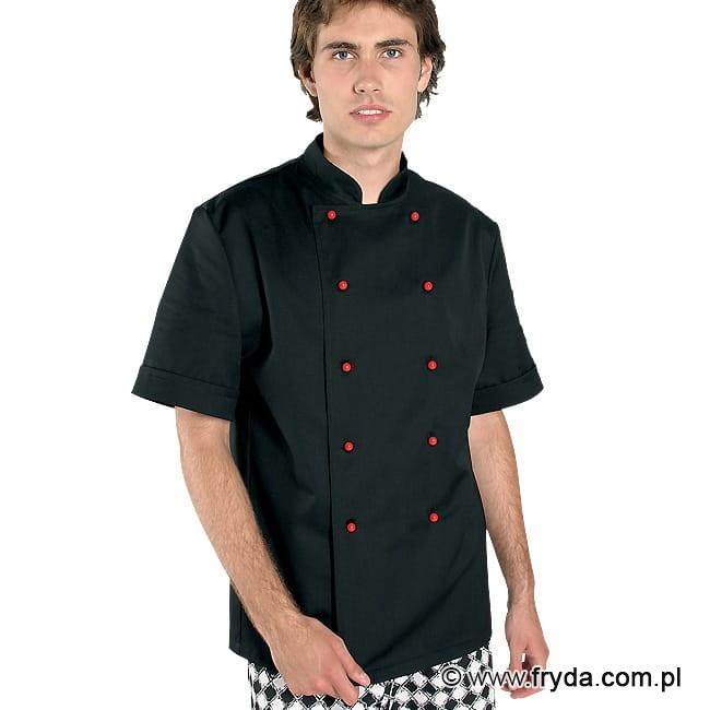 Bluza kucharska krótki rękaw kolor czarny