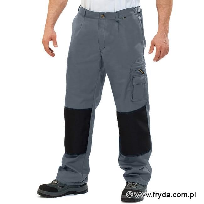 Spodnie robocze do pasa WORK kolor popielaty