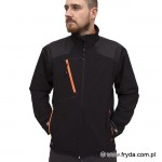 Kurtka Soft Shell PURE BLACK/ORANGE No. 1615