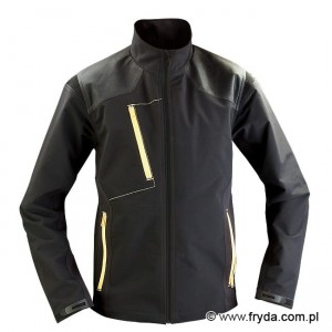 Kurtka Soft Shell PURE BLACK/YELLOW No. 1615