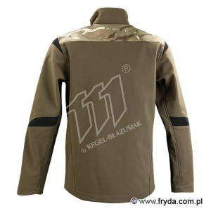 Kurtka Soft Shell TACTIC GREEN CAMO WARM No. 1615