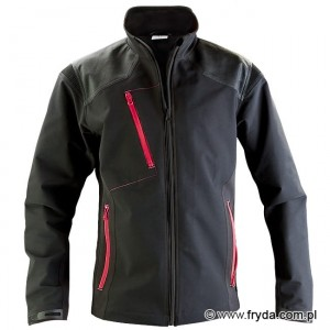 Kurtka Soft Shell PURE BLACK/CRIMSON No. 1615