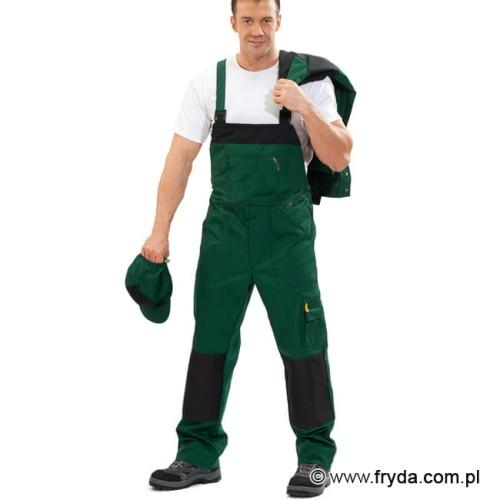 Spodnie robocze ogrodniczki WORK kolor zielony
