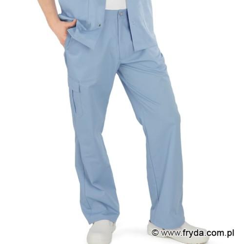 284bf19c Spodnie medyczne męskie - kolor błękitny