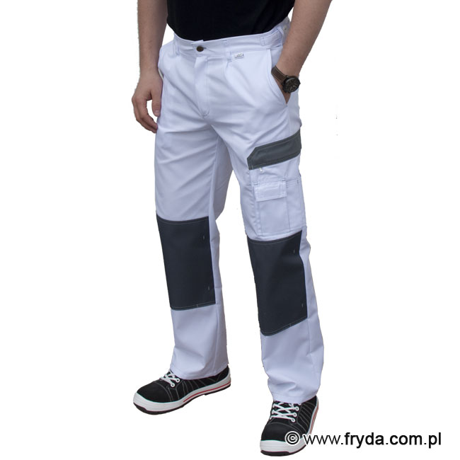 Spodnie  robocze WORK - kolor biały