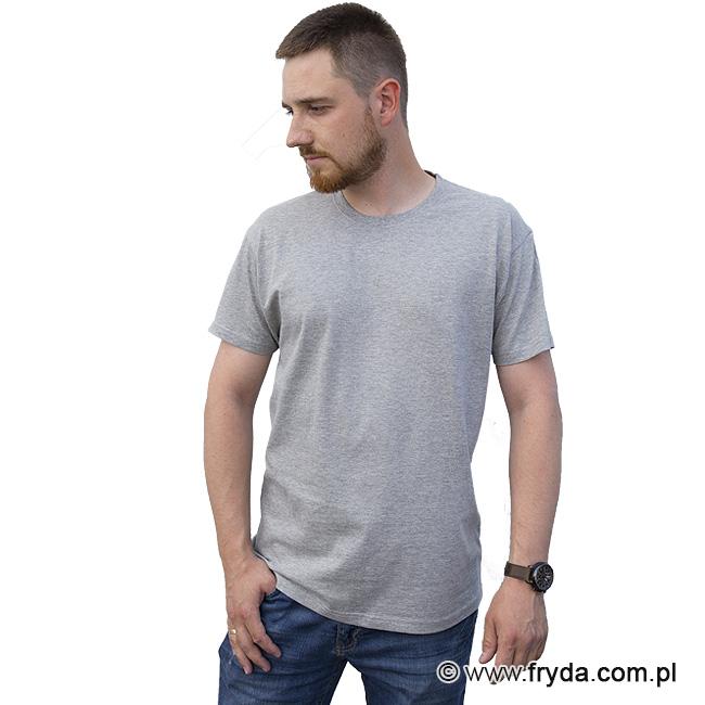d5d9b3f9a Koszulka T-shirt bawełniana - kolor popielaty Odzież i Obuwie do Pracy