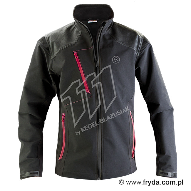 Kurtka Softshell Pure Black/Crimson