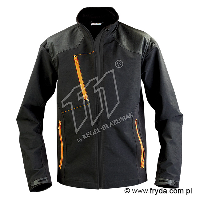 Kurtka Softshell Pure Black/Orange