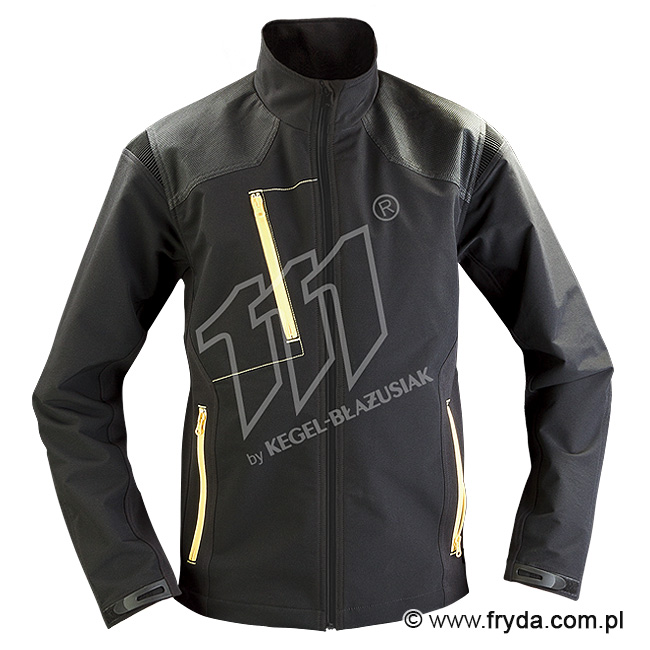 Kurtka Softshell Pure Black/Yellow