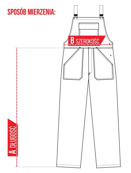 Spodnie Ogrodniczki Ocieplane - Sposób mierzenia